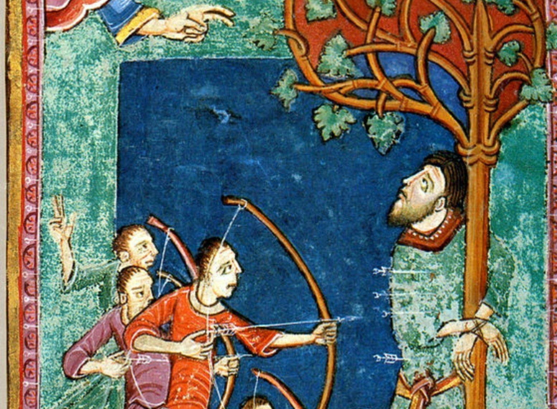 Arco longbow recurvado. 1-edmund-the-martyr-king-cut-aspect-ratio-750-550
